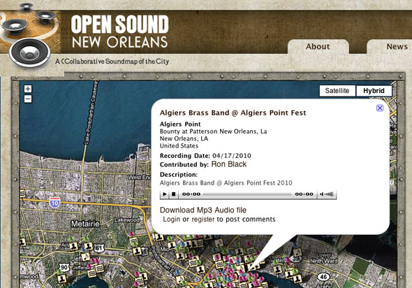 New Orleans Sound Map