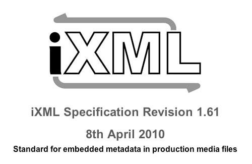 iXML metadata